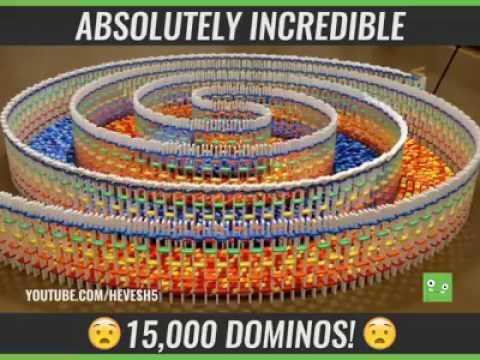 Le plus grand dominos du monde ! VIDEO BUZZ
