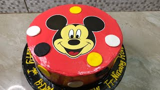 Mickey Mouse Themed CakeHow to make Mickey Mouse Themed Cake