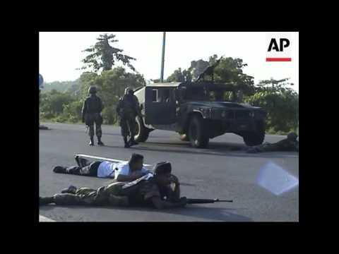 Bomb blast caught on camera; soldier injured