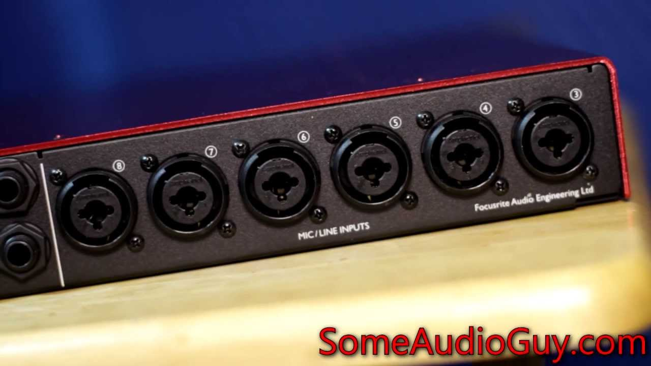 review focusrite scarlett 18i20 usb audio interface with 8 microphone preamps youtube. Black Bedroom Furniture Sets. Home Design Ideas