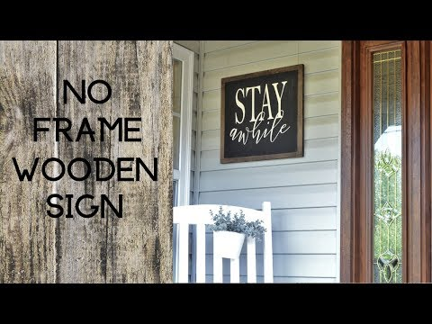 No Frame Farmhouse Sign / Wood Quote Sign Tutorial