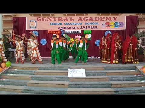 REPUBLIC DAY CELEBRATION AT CENTRAL ACADEMY AMBABARI JAIPUR