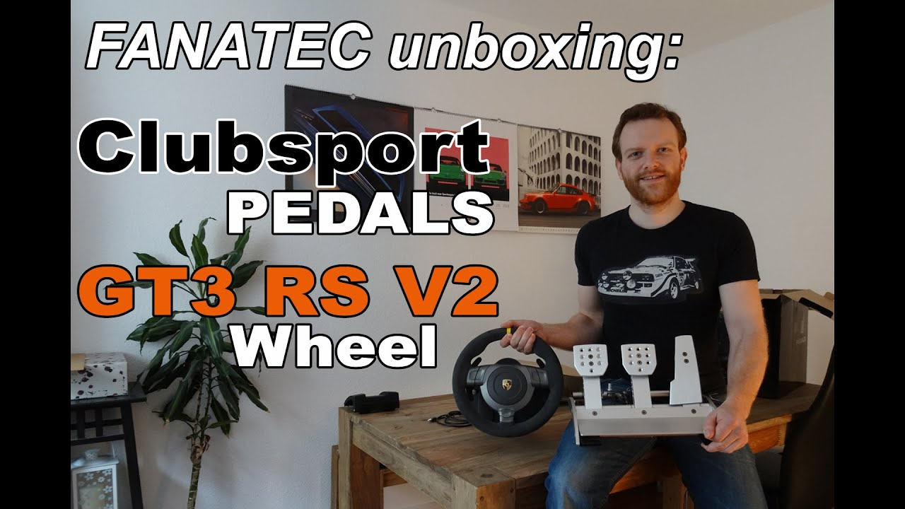 fanatec clubsport pedals porsche 911 gt3 rs v2 unboxing youtube. Black Bedroom Furniture Sets. Home Design Ideas