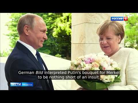 GERMAN MEDIA GO CRAZY: Putin's Bouquet Is
