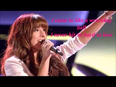 Christina Grimmie - Wrecking Ball (Lyrics)