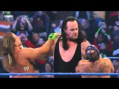 Undertaker attacks Shawn Michaels & Rey Mysterio - YouTube