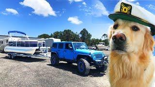 COOPER GETS A BOAT (Dog