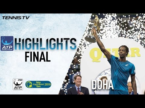 Final Highlights: Monfils Streaks To Doha 2018 Title