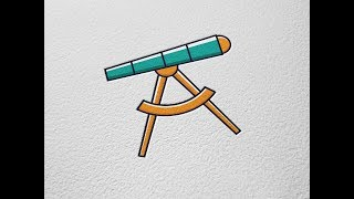 Telescope Vector Icon Adobe Illustrator Tutorial