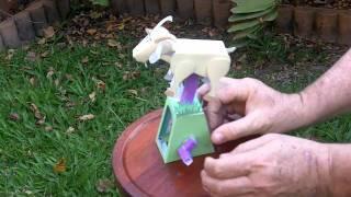 Papercraft automaton - a leaping goat
