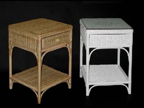 Wicker end Tables with Drawers YouTube