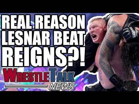 Real Reason Brock Lesnar BEAT Roman Reigns At WWE WrestleMania 34?! | WrestleTalk News Apr. 2018