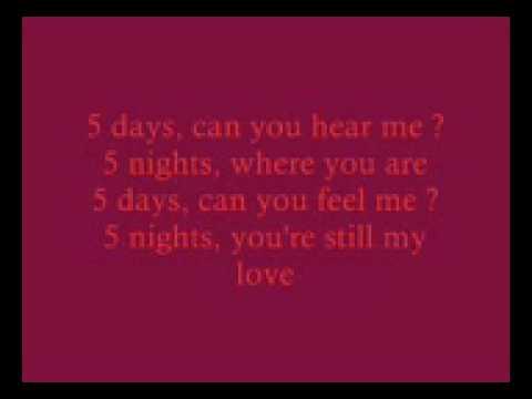 5 Days-Patrick Nuo with lyrics