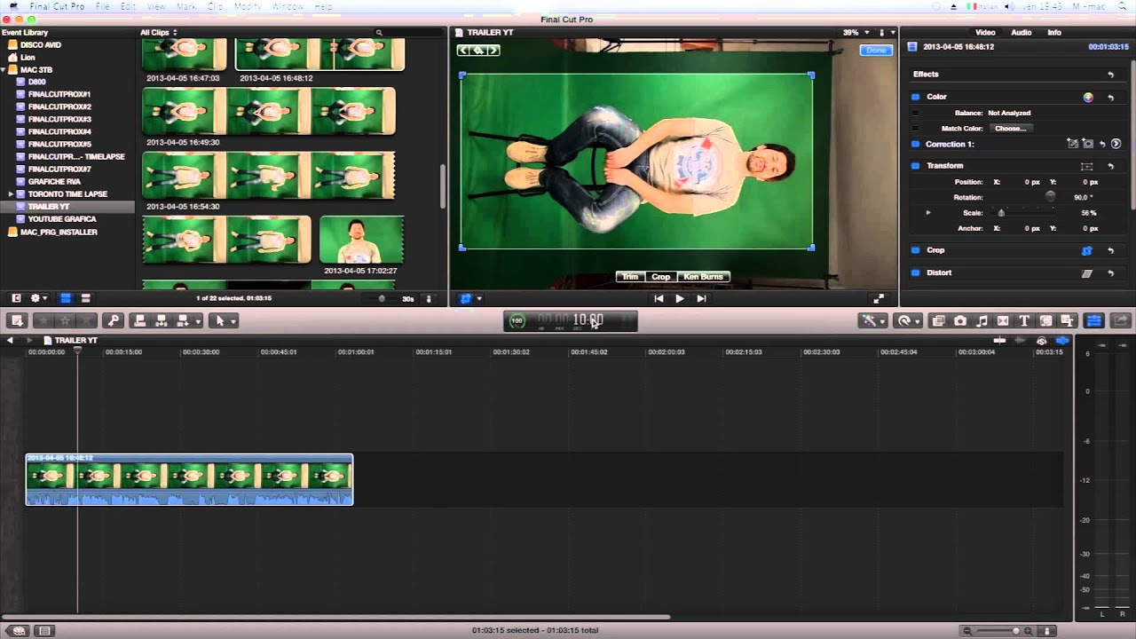 Final cut pro x green screen tutorial! (movie review howto setup.