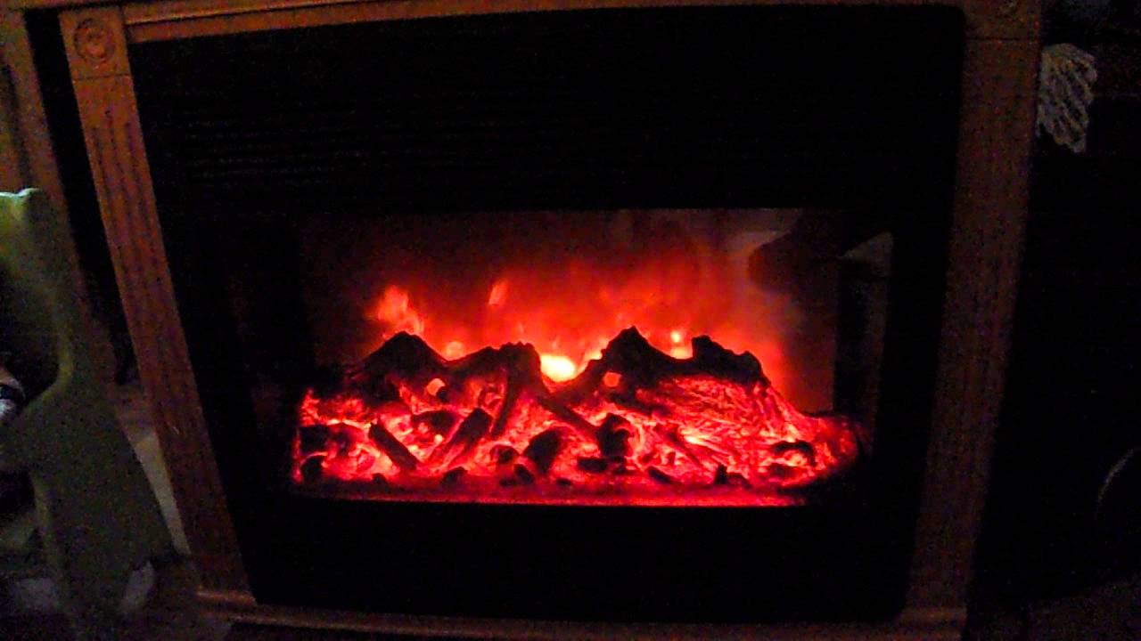 heat surge electric fireplace youtube