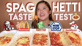 Fast Food Spaghetti Taste Test | Merienda Time