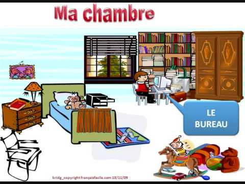 Ma chambre vocabulaire youtube for Les chombre a coucher