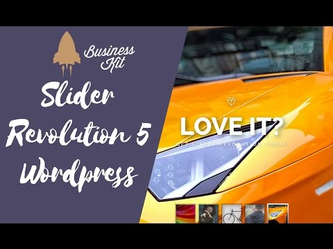 Slider Revolution 5 WordPress Tutorial deutsch | Business-Kit