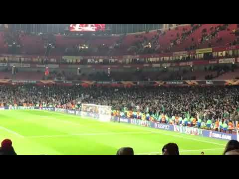 Arsenal - Sporting final whistle @emirates by gunners fan