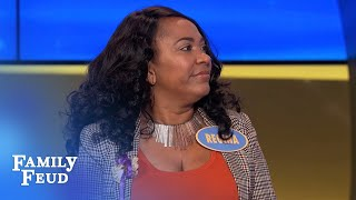 Regina's playing BLANKETY BLANKS | Family Feud