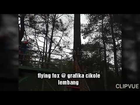 Flying Fox Di Taman Wisata Grafika Cikole Lembang