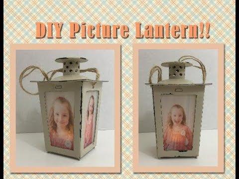 DIY Dollar Tree | Picture Lantern....