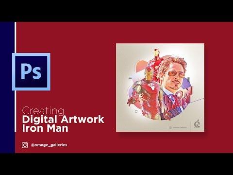 Photoshop Tutorial: Creating Digital Artwork - Iron Man thumbnail