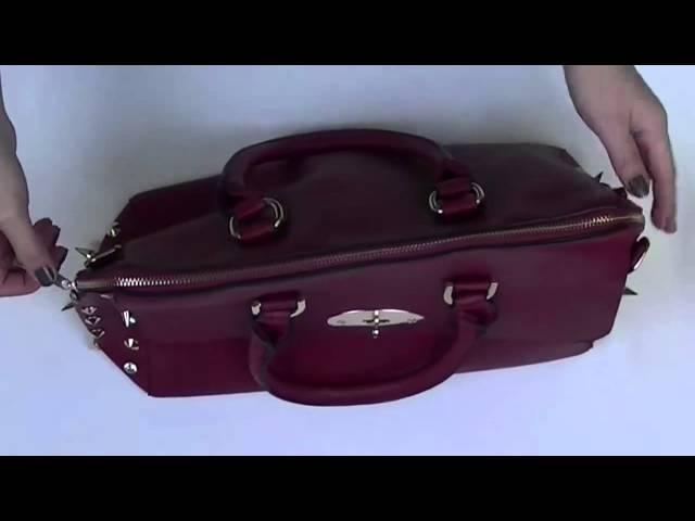 Ladies Tote Handbag With Side Spikes - AU121110