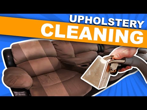 Upholstery Cleaning - Cleaning A Microfiber Sofa