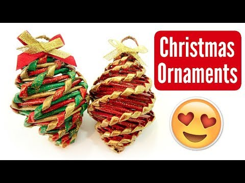 DIY EASY WOVEN CHRISTMAS ORNAMENT