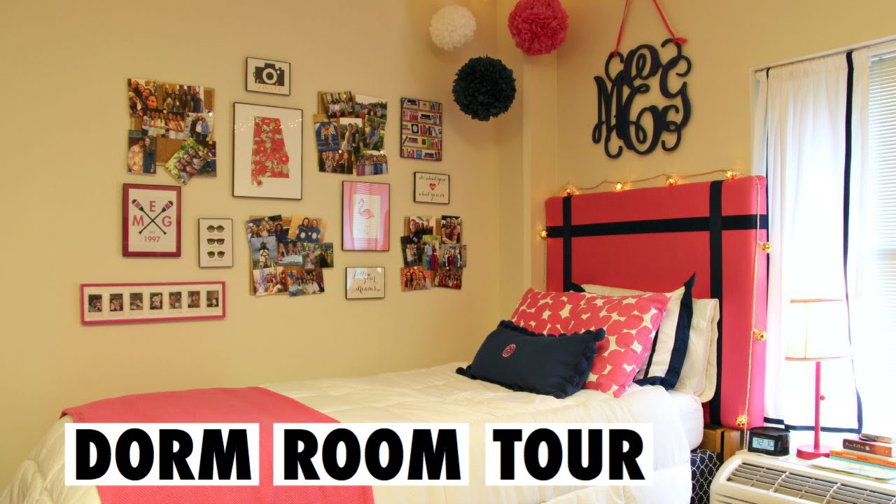 Preppy College Dorm Room Tour!   YouTube