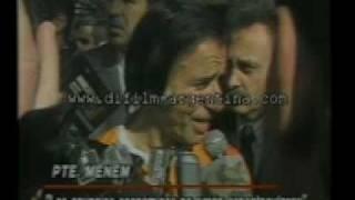 DiFilm - Menem habla de la privatizacion de Ferrocarriles Argentinos (1990)