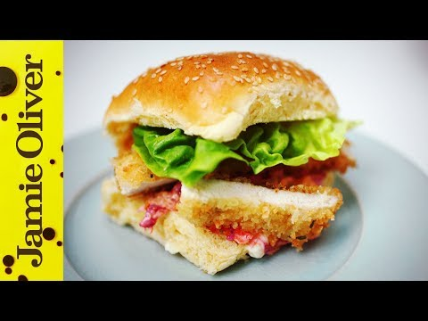 Crunchy Chicken Schnitzel Burger | Aaron Craze