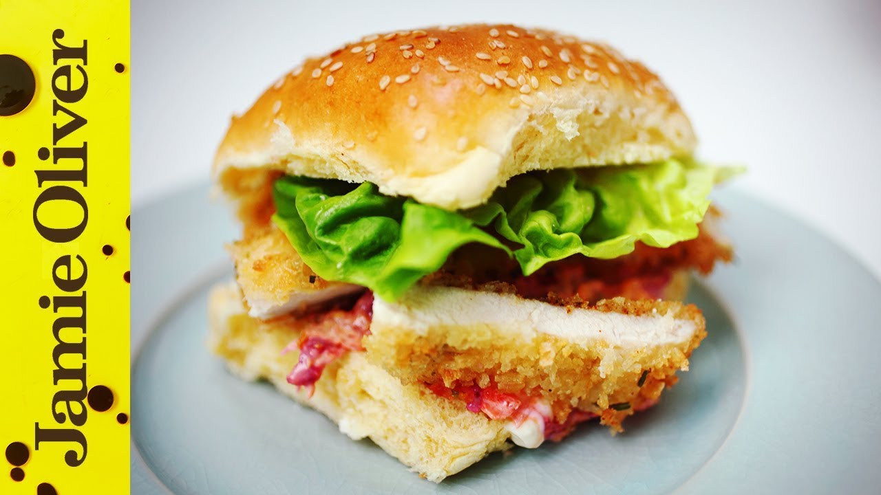 Crunchy Chicken Schnitzel Burger Aaron Craze Youtube