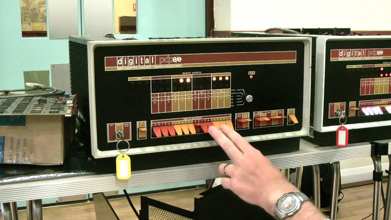 DEC PDP/8E Console Programming - YouTube