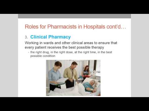 Hospital Pharmacy Introductory Lecture