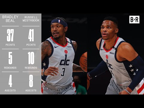 Russell Westbrook & Bradley Beal GO OFF Against Nets