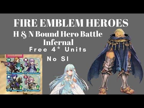 Fire Emblem Heroes - Hawkeye and Ninian Bound Hero Battle INFERNAL - Free 4* Units/No SI