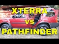 Xterra vs Pathfinder: rear seat cargo area tour