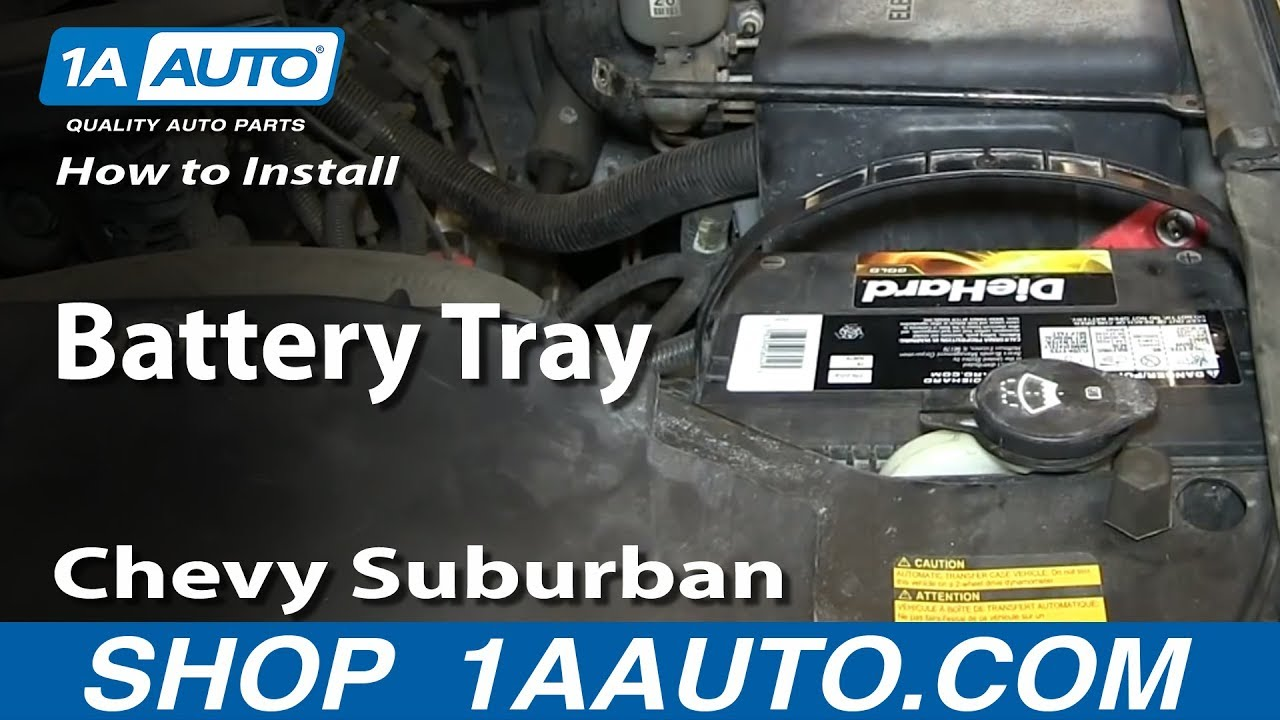 small resolution of how to install replace battery tray 2000 06 chevy suburban tahoe gmc yukon