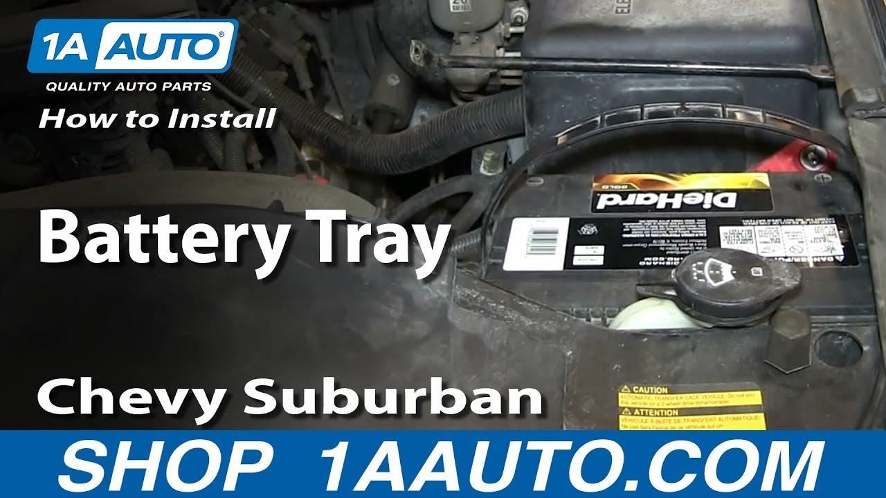 medium resolution of how to install replace battery tray 2000 06 chevy suburban tahoe gmc yukon