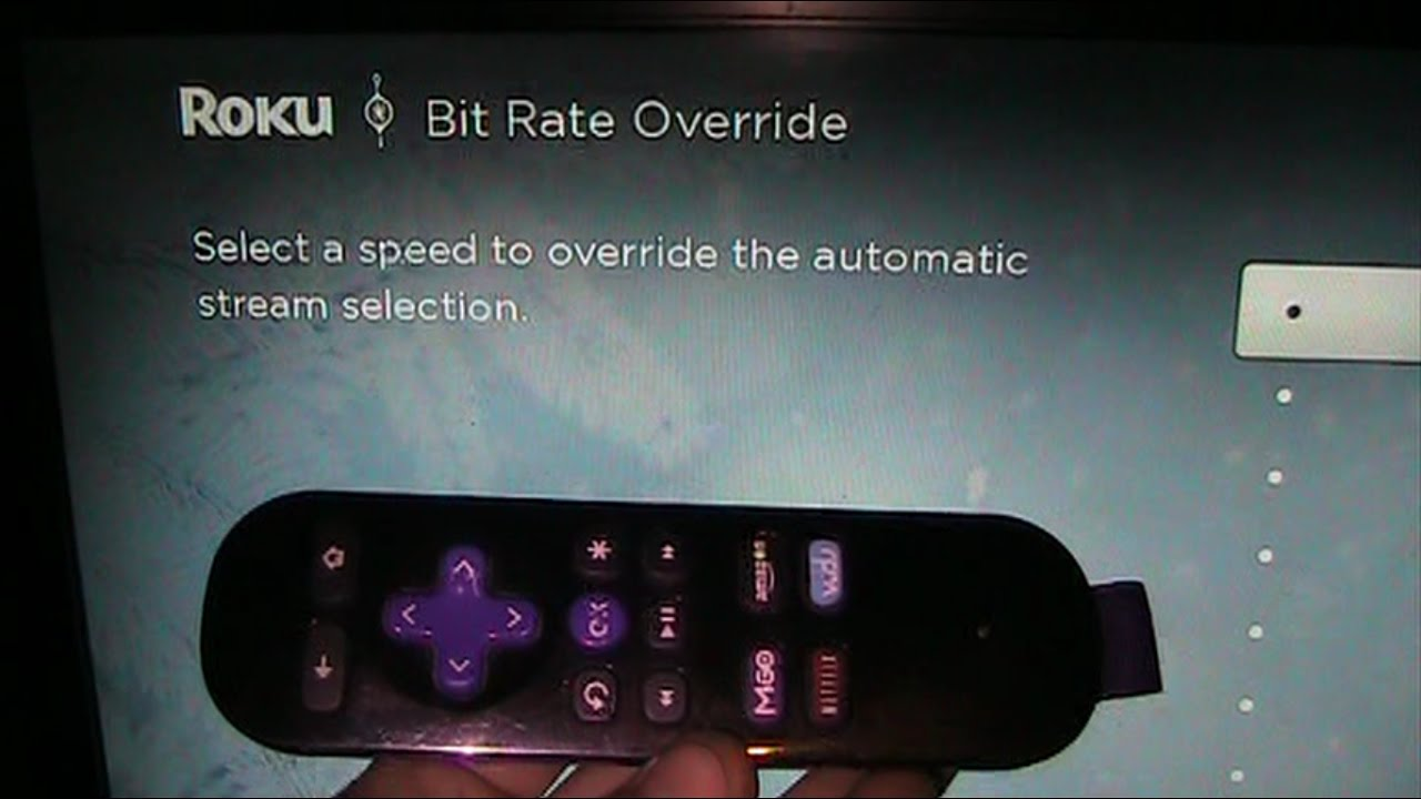 Tech Hack - Hidden Roku Menu - How to Manually Change Connection Settings  For Better Loading Times