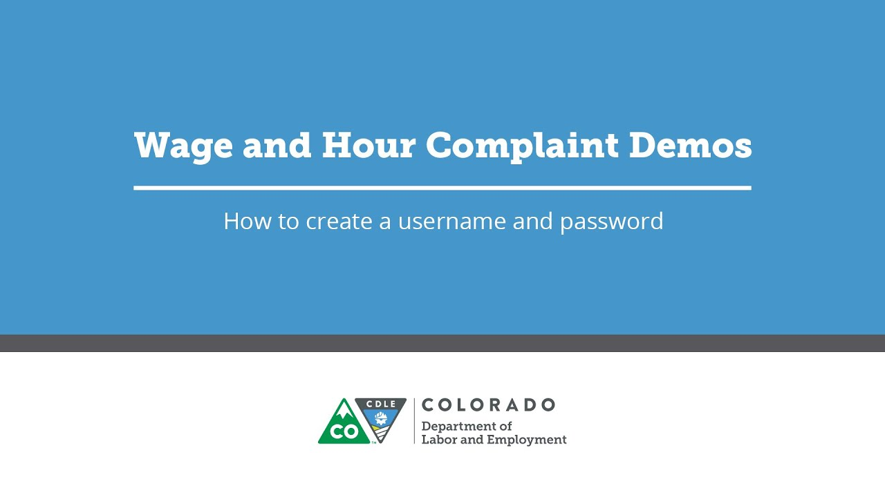 File a Wage Complaint   Colorado Department of Labor and