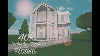 Bloxburg: casa moderna estética 40k (ROBLOX)