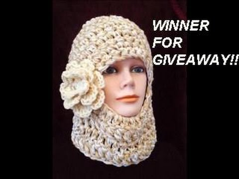 Giveaway Winners Ski Mask Crochet Pattern Youtube