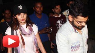 SPOTTED!! Virat Kohli And Anushka Sharma At Mumbai Airport (VIDEO)