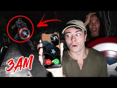 CALLING CAPTAIN AMERICA ON FACETIME AT 3 AM!! *WE TOOK HIS SHIELD*