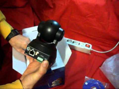 Telecamera videosorveglianza IP wireless ptz da remoto web cam confezione