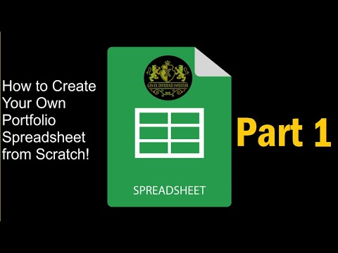 How To Create a Simple Dividend Stock Portfolio Tracking Spreadsheet From Scratch Using Google