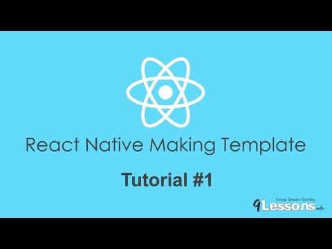 React Native Making Template NativeBase - Tutorial 1